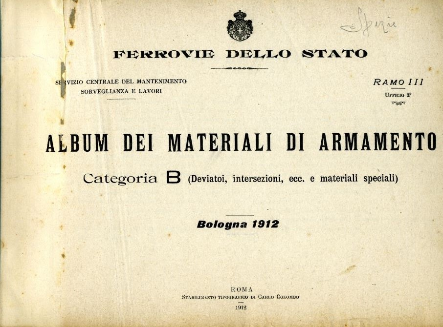 Copertina di Album dei Materiali di Armamento - Categoria B